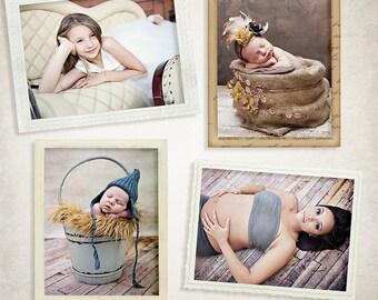 7 Vintage Digital Frames Vol.2 for Photographers - ID007, Instant Download