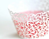 Laser Cut Lace Cupcake Wrappers - Filigree x 20 - BacktoZero