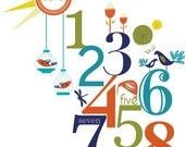 Numbers fabric wall sticker