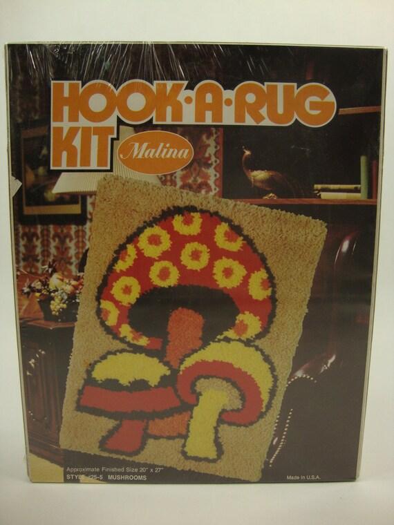 Hook A Rug Kit Malina Mushrooms New in Box