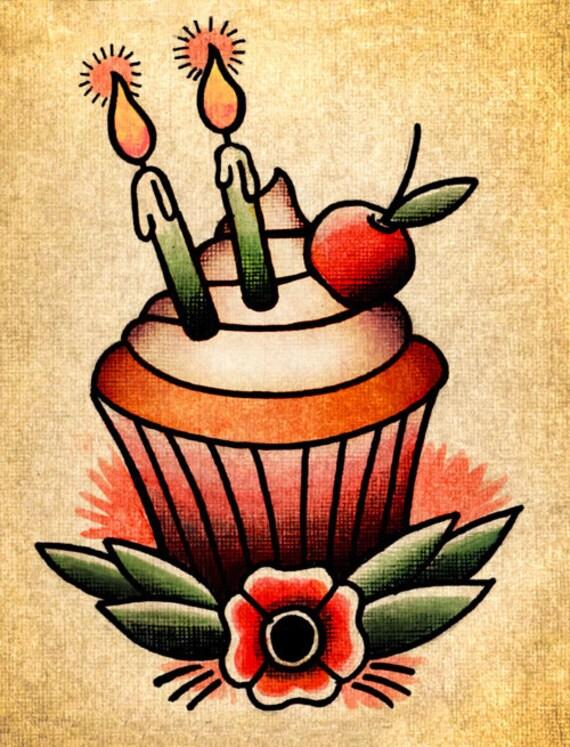 Tattoo Style Birthday Cake