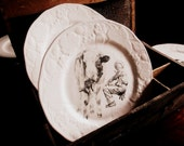 bone china transfer printed plate