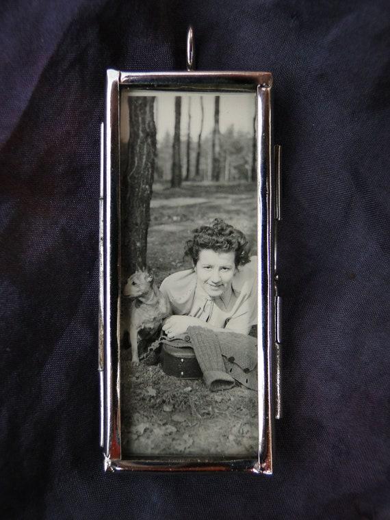 Pendant Woman Dog Photo Vintage Music Travel Necklace