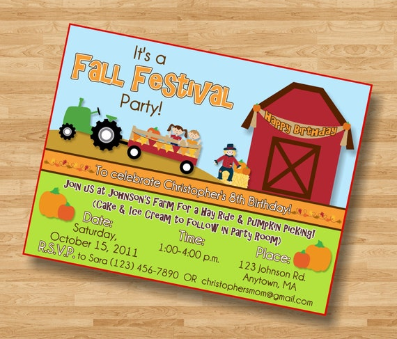 Items Similar To Fall Festival Pumpkin Patch Birthday