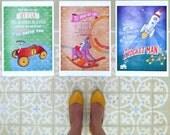 Posters, children Art, lyrics, nursery art, digital print, A3 size