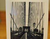 Brooklyn Bridge Blank Notecard