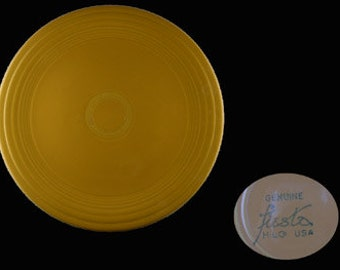 Vintage Yellow Fiesta Homer Laughlin Co. Luncheon Plate