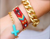 Tribal Friendship Bracelet with Gold Chain