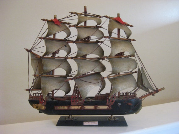 Vintage Model Ship Fragata Espanola ano 1780