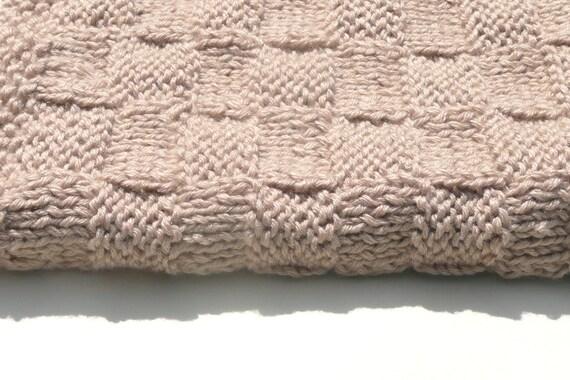 Baby Photography Blanket Prop, Newborn Photo Prop Knitt baby blanket, Wheat, Photo baby's bottom