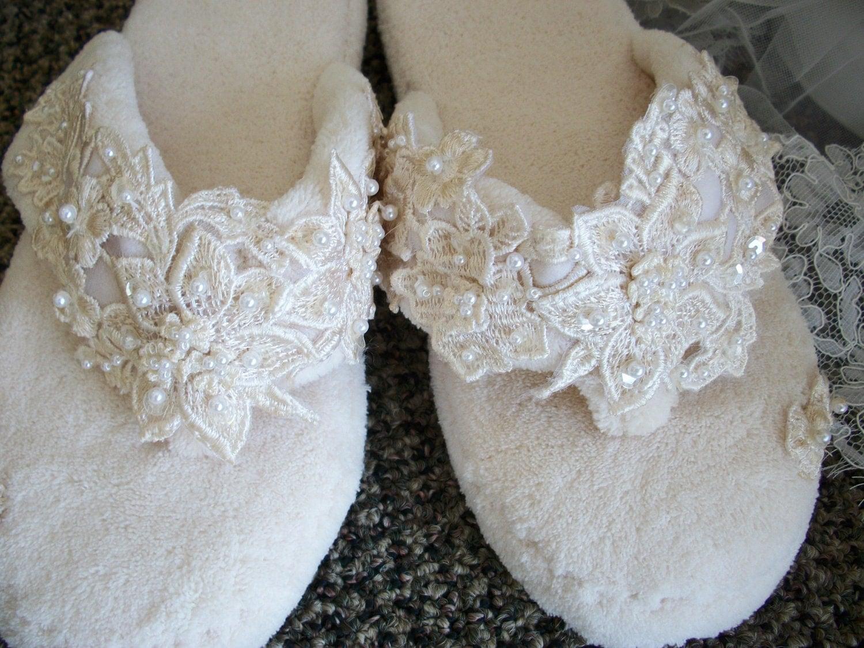 wedding bridal slippers vintage large wedding slippers zoom