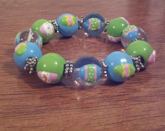 Cute Bracelet with Colorful Eggs Painted On
