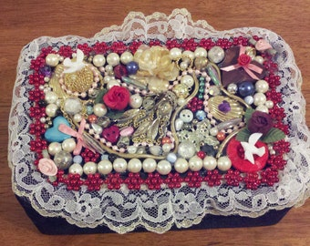 Colorful Beaded Jewelry Box