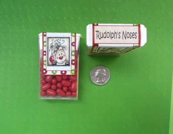 CHRISTMAS RUDOLPH'S NOSES,tic tac sticker,Christmas sticker,tic tac label,Rudolph sticker,Christmas favor