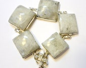 Square Moonstone Bracelet and