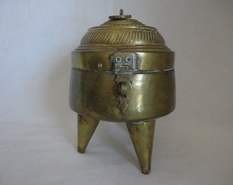 Vintage Brass Container with Lid / Indian container