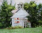 "Old One Room School House Tree Locked 5""x7"" Photo Greeting Card"