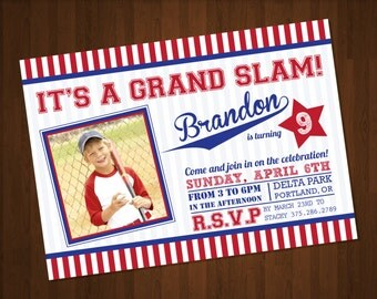 Baseball Themed Invitation - Customized for DIY Printing