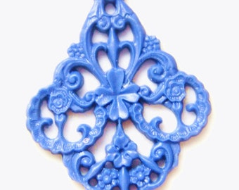 6 pcs of german filigree charm 0289-45x55mm-35-periwinkle