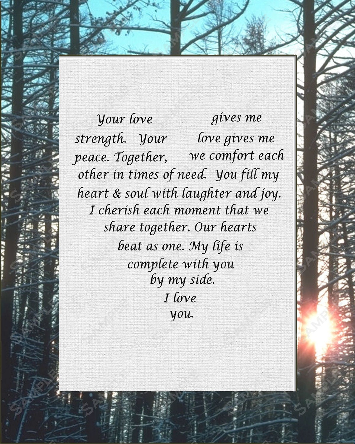 items similar to gift for wife gift for husband love poem