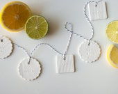 YUMMY ASSORTMENT : assorted white gift tag (set of 6)