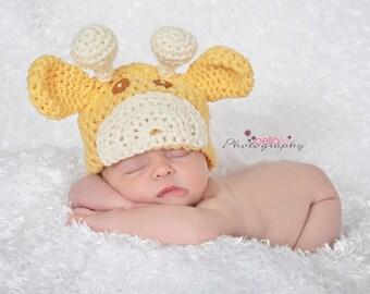 Crochet Giraffe Beanie