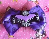 Spooky Bat Halloween Hair Bow - Large