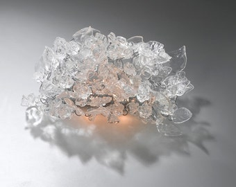Wall lamp - Scones , Transparent flowers and leaves wall lighting- up down light