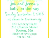Baby shower invite. 5x7 printable design