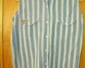 ON SALE Cotton studded vest style shirt