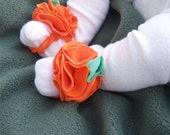 Fall pumpkin Baby Barefoot Sandals
