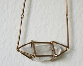 Horizontal Crystal Cage Necklace