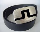 Vintage Black Leather Belt Handmade Men Belt Handmade Women Sport Golf Belt Buckle Business J1