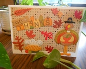 Give Thanks Turkey Blank Fall Handmade Card Size 5x7