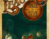 20,000 Leagues Under the Seas Book Cover Print - Custom Size - Large