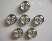 Overlapping Circles Glass Button Magnets - Set of 6