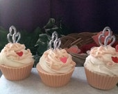 Champagne Pomegranate Soap Cupcakes