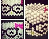 Adorable Hello Kitty Nerd Rave Kandi Cuff