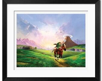 The Legend of Zelda Ocarina Of Time Poster Print