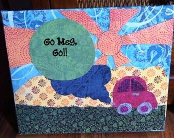 Go Meg Go - Collage on Canvas