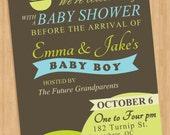 Baby Boy Shower Invitation Postcard Sailboat