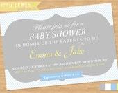 Gender Neutral Shower Invitation Postcard