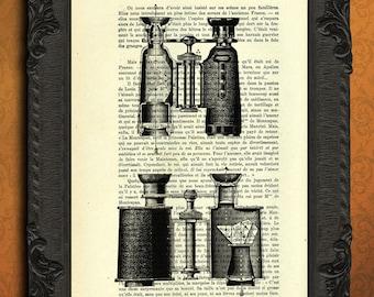 antique binoculars art vintage binoculars print on dictionary paper