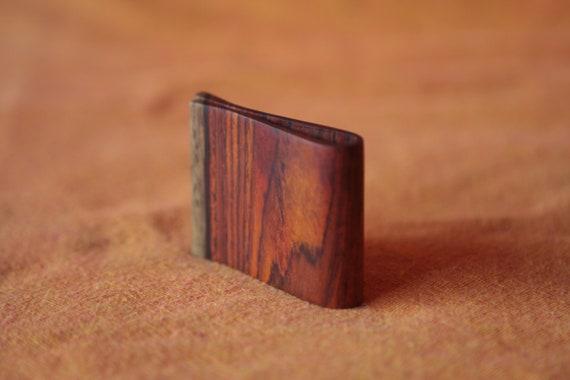 Handmade Nicaraguan hardwood money clip