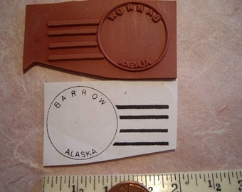 Barrow Alaska postal cancellation Rubber stamp un-mounted scrapbooking rubber stamping