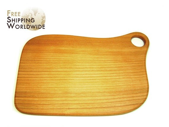 Wooden Cutting Board Large Size from one piece of Cherry wood