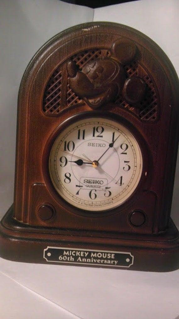 Mickey Mouse 60th anniversary talking alarm clock - Seiko