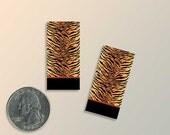 Tiger Stripe Paper Earrings