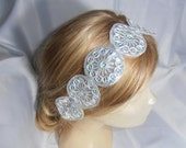 Wedding Headband, Bridesmaid silver sequin headband,Hair Accessory, Wedding Headpiece