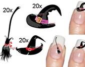 60 Nail Art Halloween 007 - Decal sticker Tattoo Nail Art - Adult size
